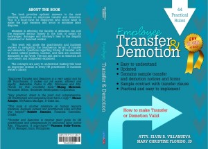 44 Rules on Employee Transfer and Demotion
